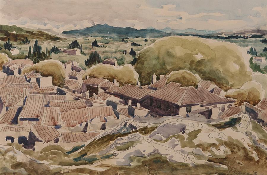 art gallery somerset - Julian Trevelyan WATERCOLOUR