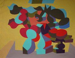 allan milner abstract gouache