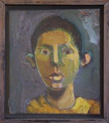 Kate Noble portrait with yellow face