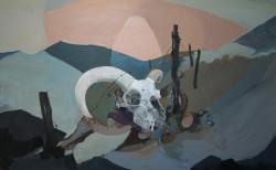 ray evans sheep skull