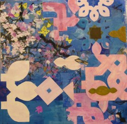 Magnolia Tree 2015 gouache and collage,30x30cm