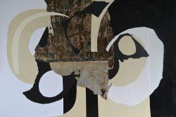 Balance II Collage and mixed medium on board 83x112