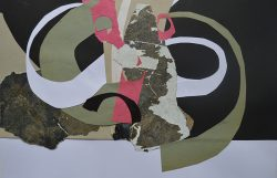 Spring I Collage and Mixed media on board 0033 - 16 32cm, 42cm