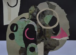 Spring II Collage and mixed media on board 0032 -16 42cm, 32cm