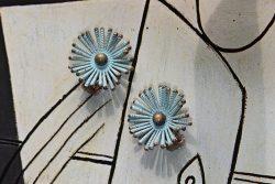 50s flower earrings 1