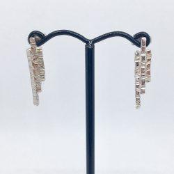 Ecosilver stepped shard earrings £50