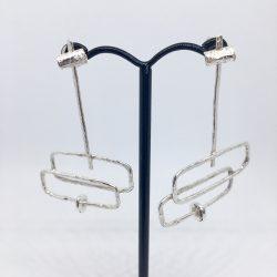 Sculptural movement earrings £77