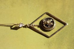 Victorian fly diamond pendant 1