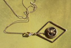 Victorian fly diamond pendant 2