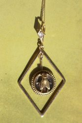 Victorian fly diamond pendant 3