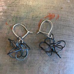 penny price thin twist earrings