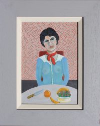 unattributed lady with fruit