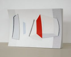 Morag Ballard-NOTATION-Oil on canvas on shaped board_12 x 18ins