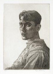 Edgar Holloway self portrait