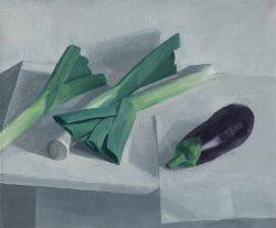 jason line leeks and aubergine