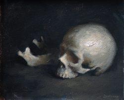 Lizet Dingemans skull unframed