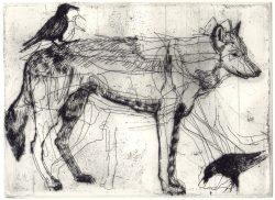 Olivia Gill Wolf & Black Birds
