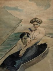 british school couple on yacht