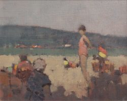 stephen brown figures on beach