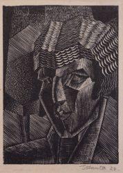 J Hunter woodcut 1928