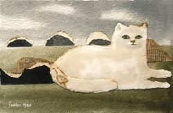 mary fedden collage cat 1985