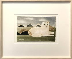 mary fedden collage cat 1985 framed