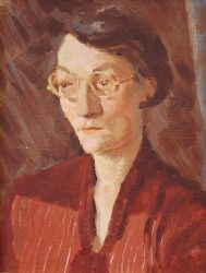 1930s portrait of a teacher unframed