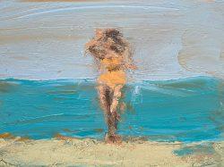 David Storey young woman beach