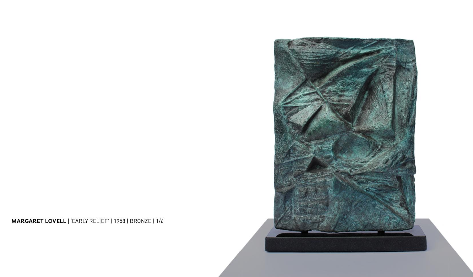magraret lovell bronze relief