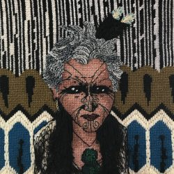 carolyn partleton stitched portrait chief