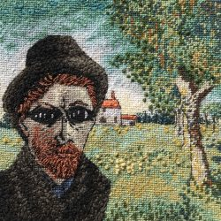 carolyn partleton stitched portrait vincent van goch